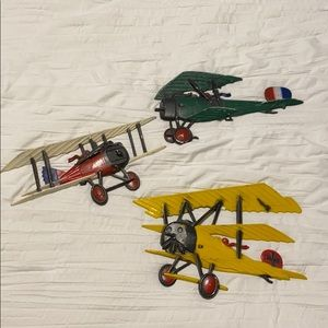 3 Vintage Sexton Die Cast Airplane Wall Plaques